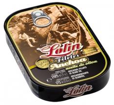 Filete de anchova em azeite extra virgem série ouro da Lolin