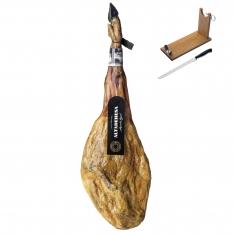 Presunto 100% ibérico puro de bolota da Altadehesa + suporte de presunto + faca