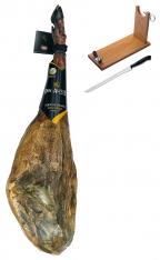 Presunto de bolota ibérico qualidade superior inteiro da Don Agustín + suporte de presunto+ faca