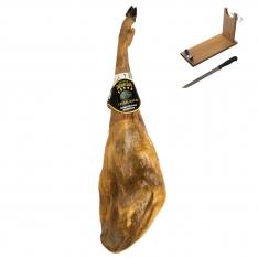 Presunto de bolota ibérico inteiro da Ibéricos Dehesa Casablanca + suporte de presunto + faca