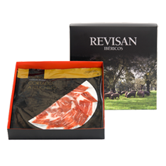 Presunto de bolota ibérico cortado à mão da Revisan Ibéricos - caixa premium