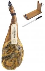 Presunto da pá ibérico de cebo da Altadehesa + suporte de presunto + faca