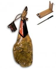 Presunto da pá ibérico de cebo de campo certificado da Revisan Ibéricos + suporte de presunto + faca