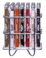 Rack de 21 tubos de cristal da Regional Co.