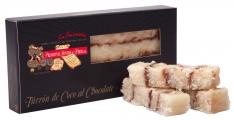 Nougat torrão de Coco e chocolate da Turrones Primitivo